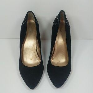 18e6168c57cd BCBGeneration Shoes - BCBGeneration Black suede   rhinestone wedge heels